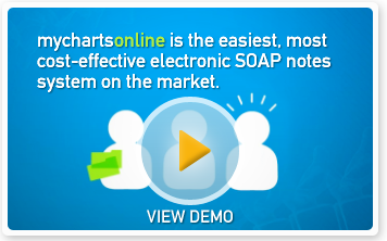 MyChartsOnline is the easiest, most cost-effective electronic SOAP notes software on the market.
